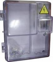 Коробка под счетчик КДЕ-1.1 прозрачная