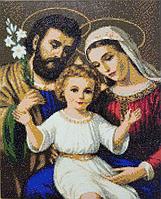 Алмазная мозаика алмазна вышивка икона на подрамнике, 40*50 см. Святая семья ікона Свята сімя