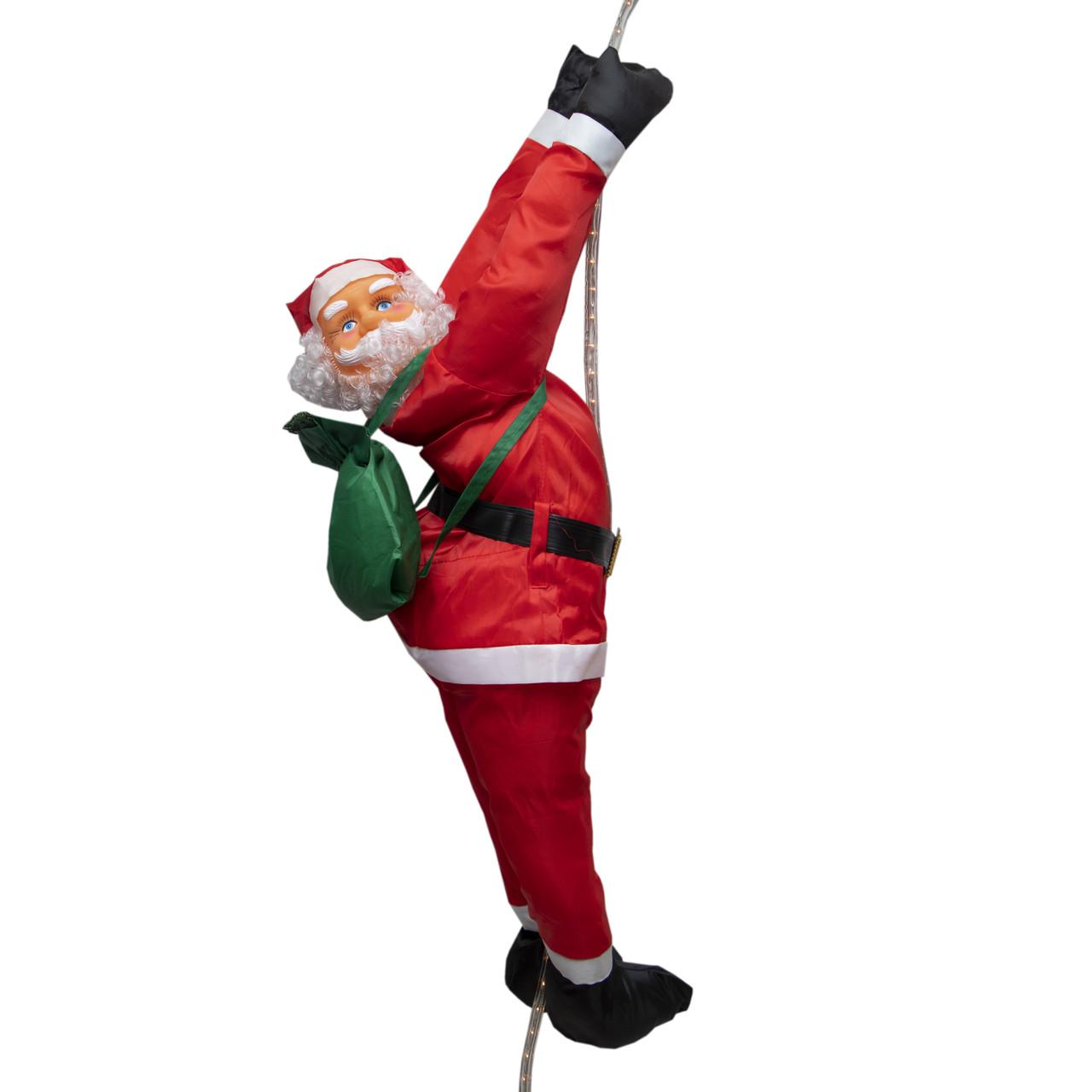 Уличный декор Светодиодная гирлянда-декорация Мягкий Дед Мороз 60 см на веревке (051441)