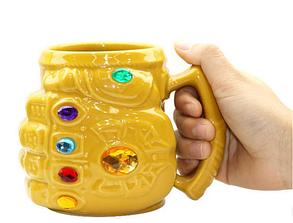 Кружка Перчатка Таноса фигурная чашка MARVEL ABC, фото 2