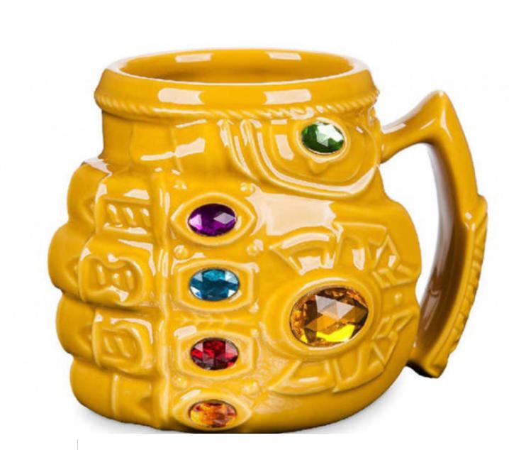Кружка Перчатка Таноса фигурная чашка MARVEL ABC