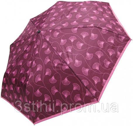 Зонт складной Doppler 7301653003-3 полуавтомат Бордовый Цветы, фото 2