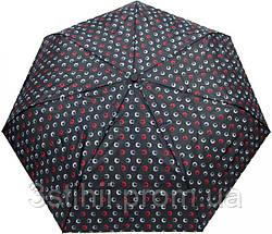 Зонт складной Derby 744165PHL-2 полный автомат Черный круги, фото 2