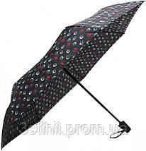 Зонт складной Derby 744165PHL-2 полный автомат Черный круги, фото 3