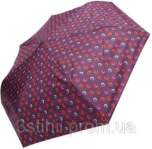 Зонт складной Derby 744165PHL-3 полный автомат Бордовый  круги