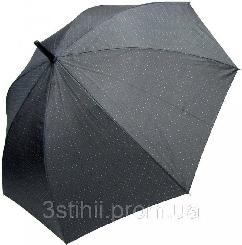 Зонт-трость Derby 77167P-1 полуавтомат Серый в ромбы