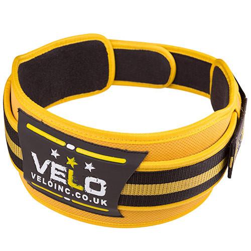 """Пояс для тяжелой атлетики VELO Polyfoam 4"""" желто-черный"""