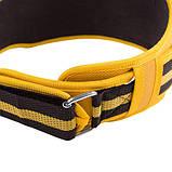 """Пояс для тяжелой атлетики VELO Polyfoam 4"""" желто-черный, фото 2"""