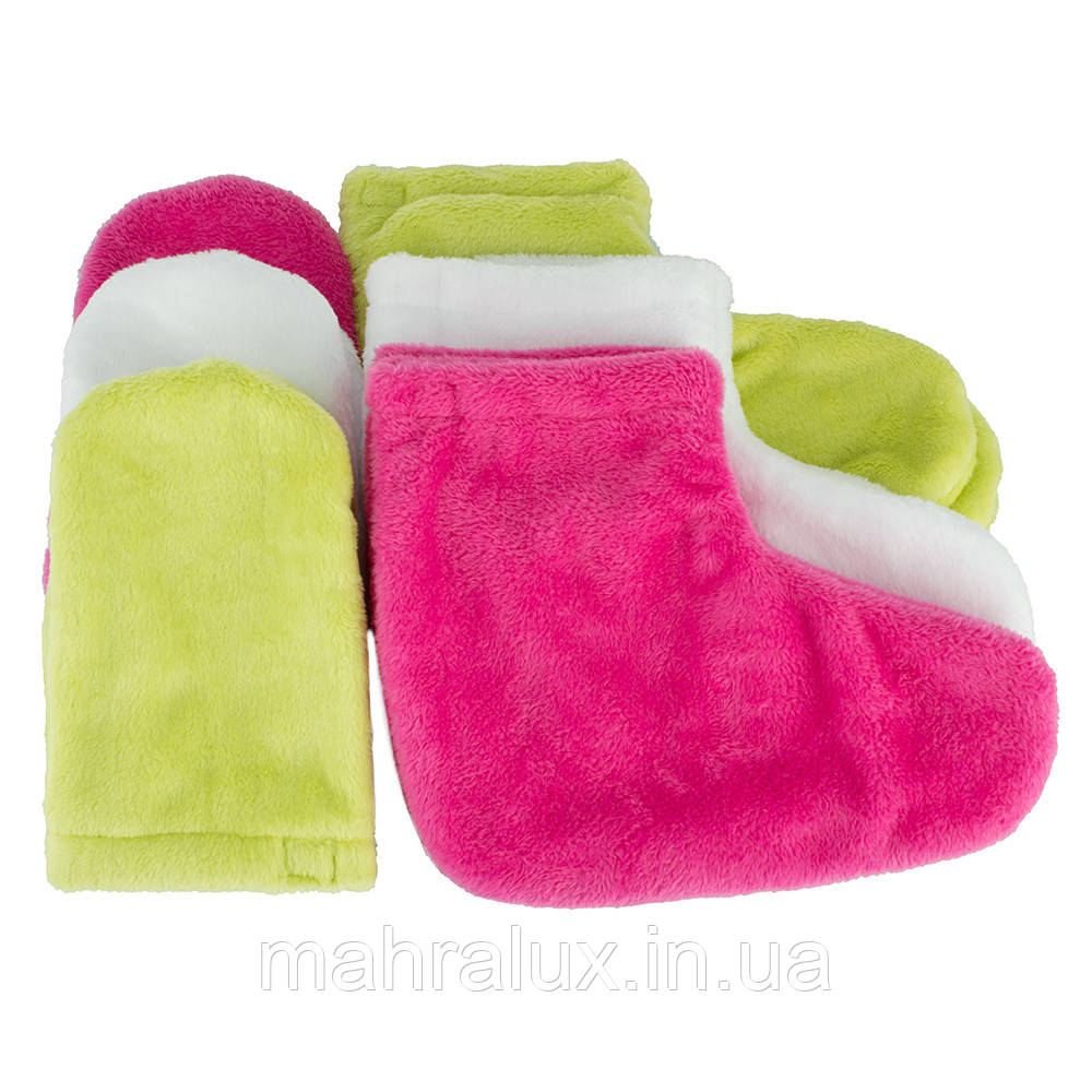 Варежки и носки из велсофта для парафинотерапии (пошив)
