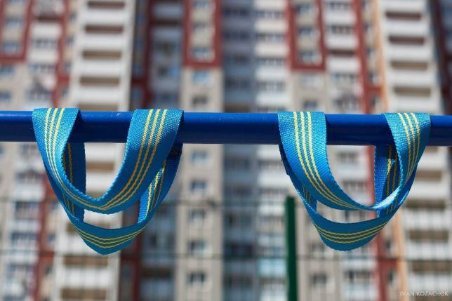 Лямки для турника Premium Ukraine (70 см) синий