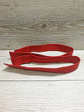 Лямки (ремни) для турника, становой тяги Premium Red (70 см) красный, фото 3