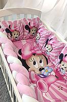 """Набор постельного белья детскую кроватку/ манеж """"Коса"""" - Бортики в кроватку / защита в детскую кроватку."""