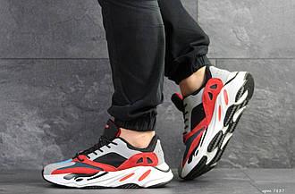 Мужские кроссовки Adidas balance life сірі з червоним\білі