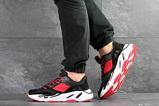 Мужские кроссовки Adidas balance life чорно червоні