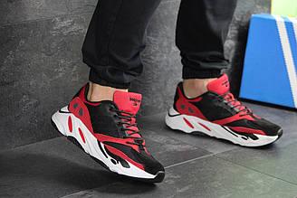 Мужские кроссовки Adidas balance life чорно червоні\білі