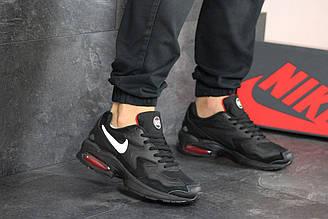 Мужские кроссовки 8160 найк Air Max 2  в стиле чорні з білим