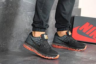 Мужские кроссовки 8174 найк Air Max 2017 в стиле сірі з чорним\помаранчеві