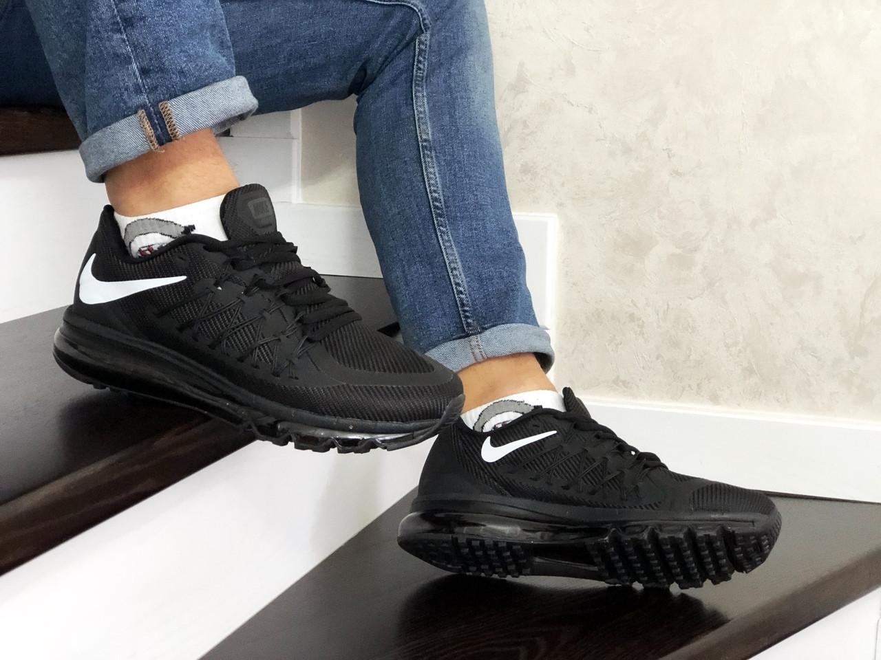 Кроссовки найк в стиле 8806 Nike Air Max 2015 чорно білі