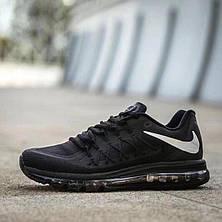 Кросівки найк в стилі 8806 Nike Air Max 2015 чорно білі, фото 2