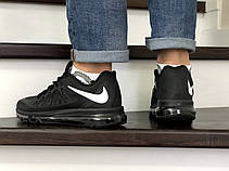 Кроссовки найк в стиле 8806 Nike Air Max 2015 чорно білі, фото 2