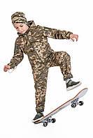 Детский камуфляж костюм OUTDOOR теплый Вулкан Soft-Shell на флисе цвет Пиксель