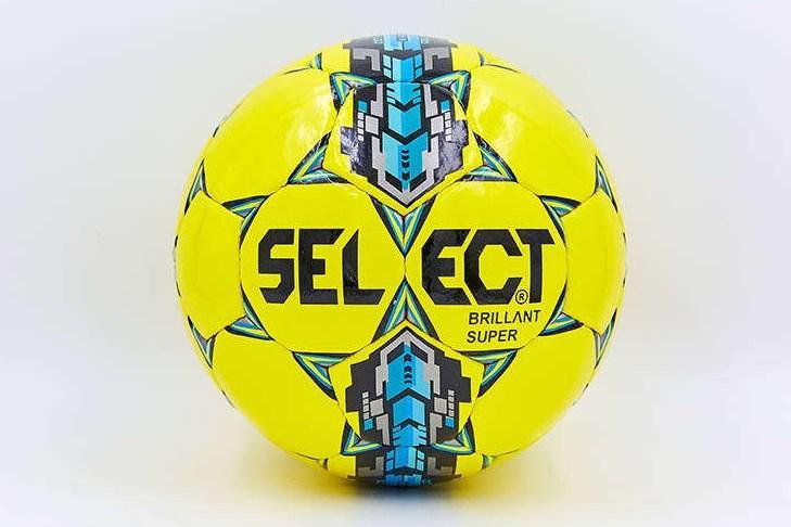 Мяч футзальный №4 SELECT BRILLANT SUPER желтый