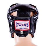 Шлем для бокса Twins закрытый черный, фото 3