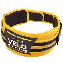 """Пояс для тяжелой атлетики VELO Polyfoam 4"""" желто-черный XXL"""