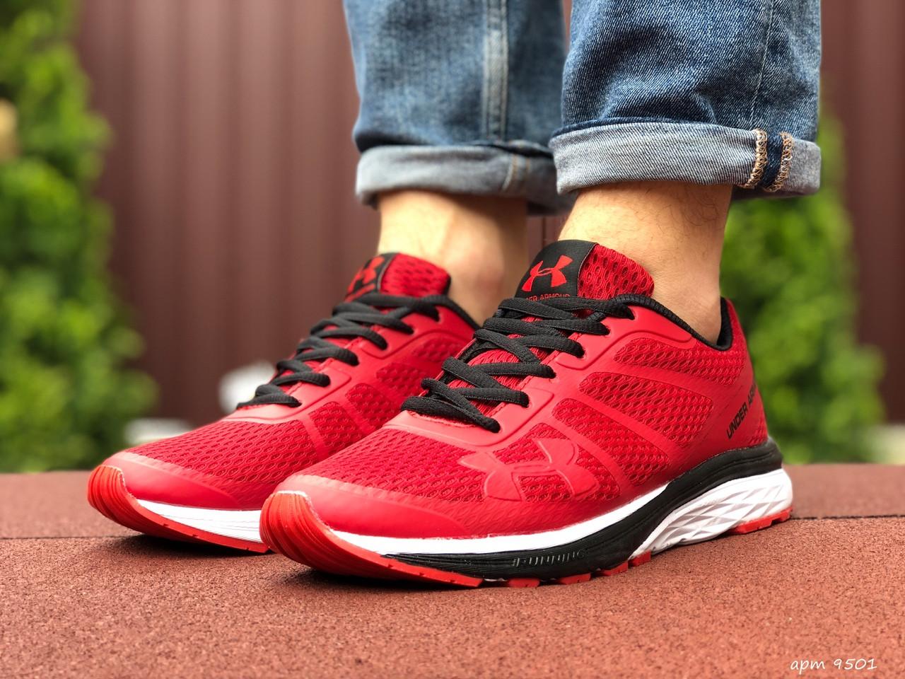 Кросівки чоловічі в стилі 9501 Under Armour червоні