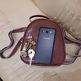Женский мини рюкзак сумка из натуральной кожи Cameo, фото 2
