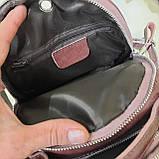 Женский мини рюкзак сумка из натуральной кожи Cameo, фото 3
