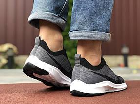 Кроссовки мужские в стиле 9584 Nike Zoom сірі з чорним\білі, фото 3