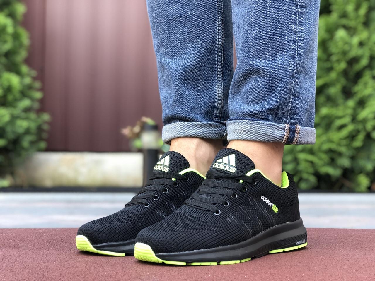 Кросівки чоловічі в стилі 9700 Adidas Neo чорні із салатовим