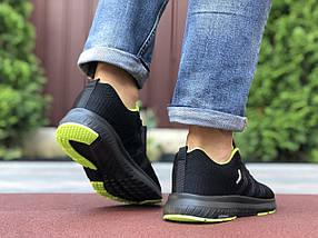 Кросівки чоловічі в стилі 9700 Adidas Neo чорні із салатовим, фото 3