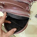 Женский мини рюкзак сумка из натуральной кожи Cameo, фото 9