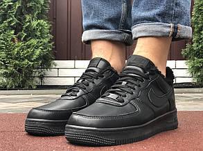 Кроссовки мужские в стиле 10050 Nike Air Force чорні  ( зима )