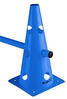 Тренировочный конус с отверстиями SECO 32 см цвет: синий , фото 1