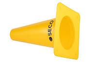 Тренировочный конус SECO 15 см цвет: желтый , фото 1