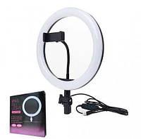 Кольцевая светодиодная LED лампа LC-666 (крепл.тел.) (метал.шарниры) USB (26см),студийное освещение для селфи
