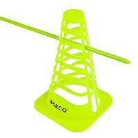 Многофункциональный беговой барьер SECO 23 см цвет: неон, фото 1
