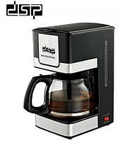 Капельная кофеварка DSP Kafe Filter KA-3024 800W , кофемашина для дома и офиса с автоотключением, черная