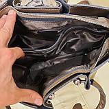 Кожаная бронзовая женская сумка, фото 2