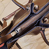 Кожаная бронзовая женская сумка, фото 8