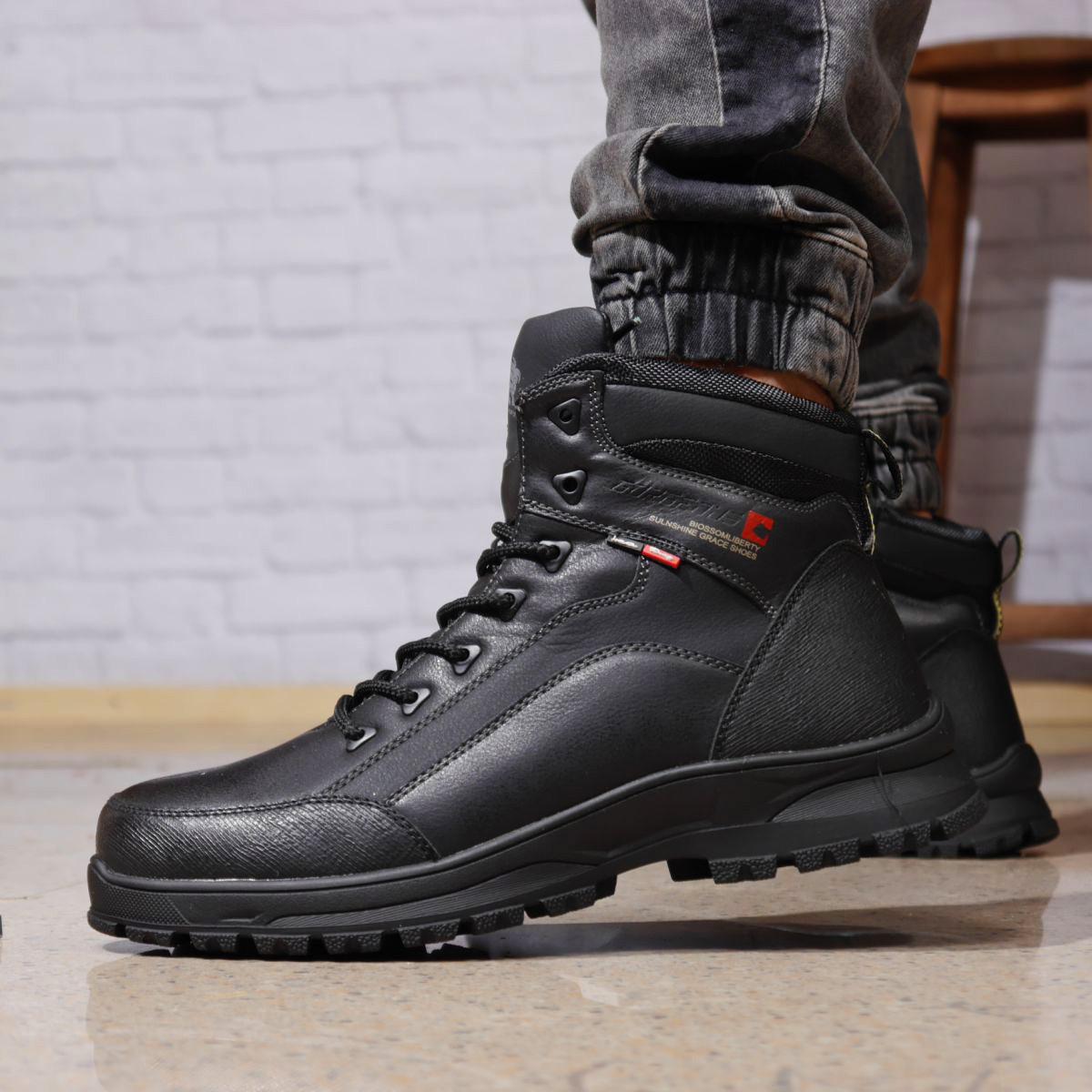 Зимние мужские ботинки 31881, Gorgeous (на меху, в коробке), черные, [ 40 41 42 43 44 45 ] р. 40-26,5см.