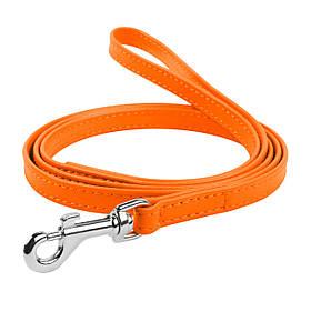 Поводок Collar Glamour оранжевого цвета 9х1220 мм для котов и собак