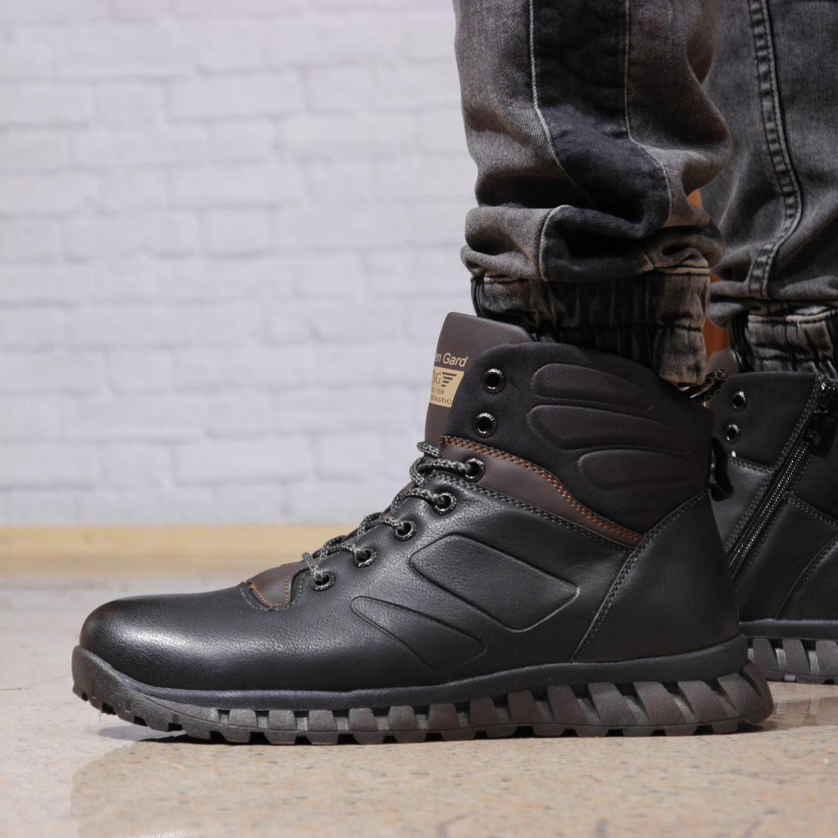 Зимние мужские ботинки 31882, SG (на меху, в коробке), черные, [ 40 41 42 43 44 45 ] р. 40-26,5см.