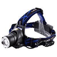Ультрафиолетовый фонарь на лоб 204C-UV 365 nm, ultra strong, 2 акк. 18650