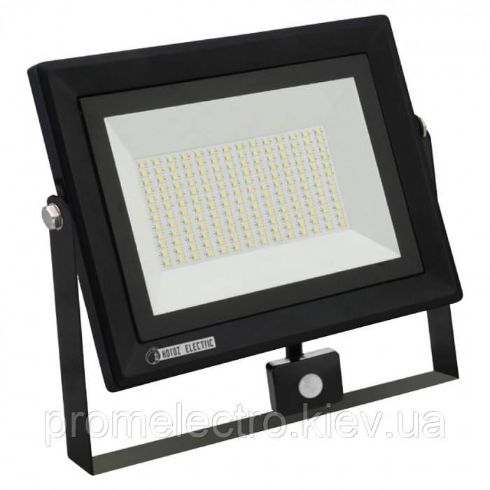 Прожектор светодиодный с датчиком движения PARS/S-100 100W 6400K
