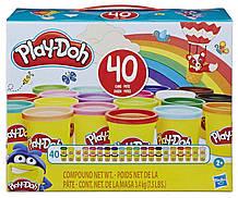 Набор пластилина Плей-До 40 баночек Хасбро, Play-Doh Hasbro (E9413)