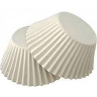 Бумажные формы для выпечки кексов  №7 50шт (белые), фото 1